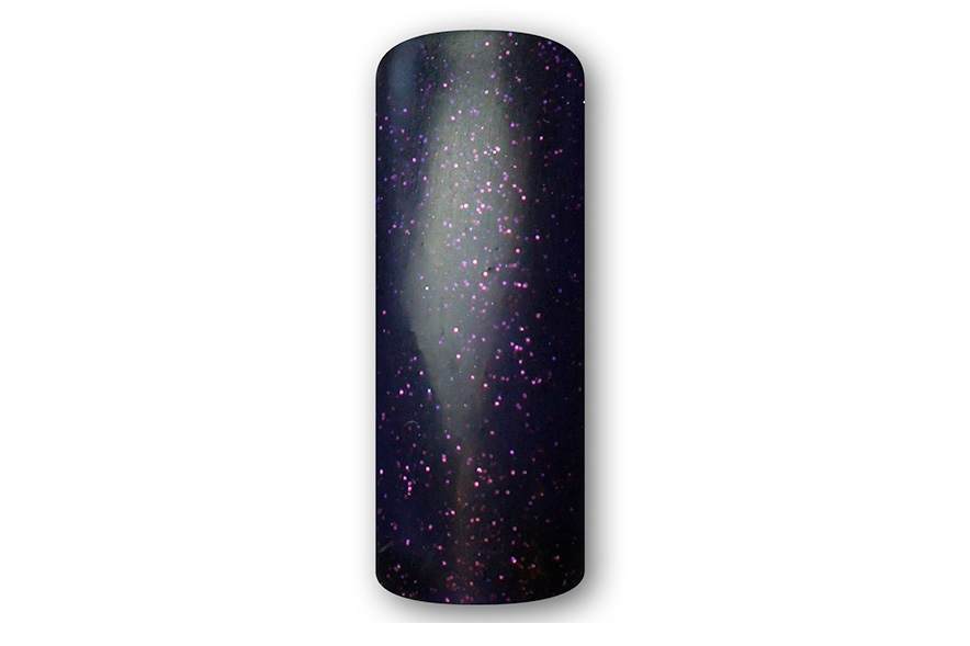 4111 Colored UV gel - dark purple with tiny glitter, 5ml