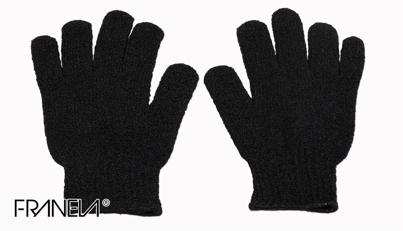 Protective gloves, black, one pair