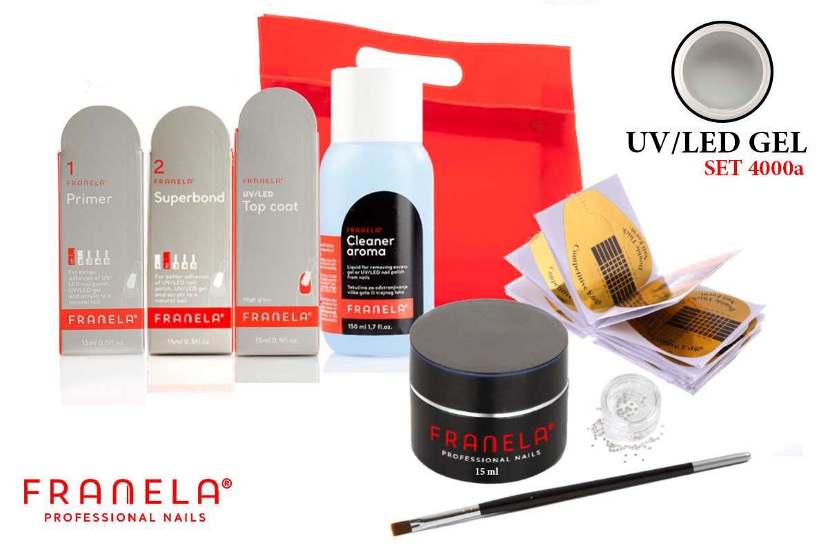 UV/LED gel set BASIC + GRATIS 15 ml UV/LED gel