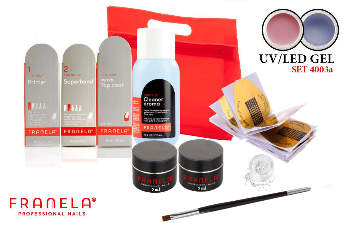 UV/LED gel set SIMPLE 2x5 ml + GRATIS primer i superbond