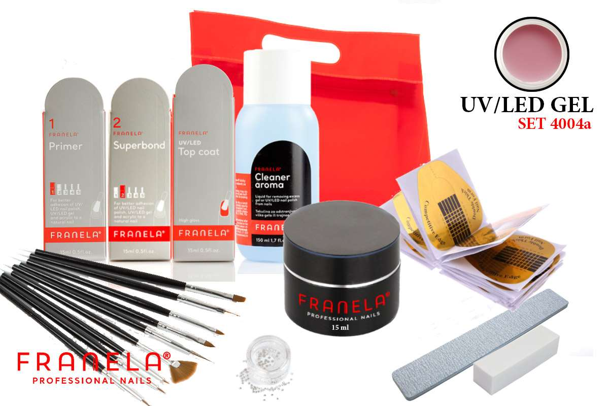 UV/LED gel set BASIC 15 ml + GRATIS primer i superbond