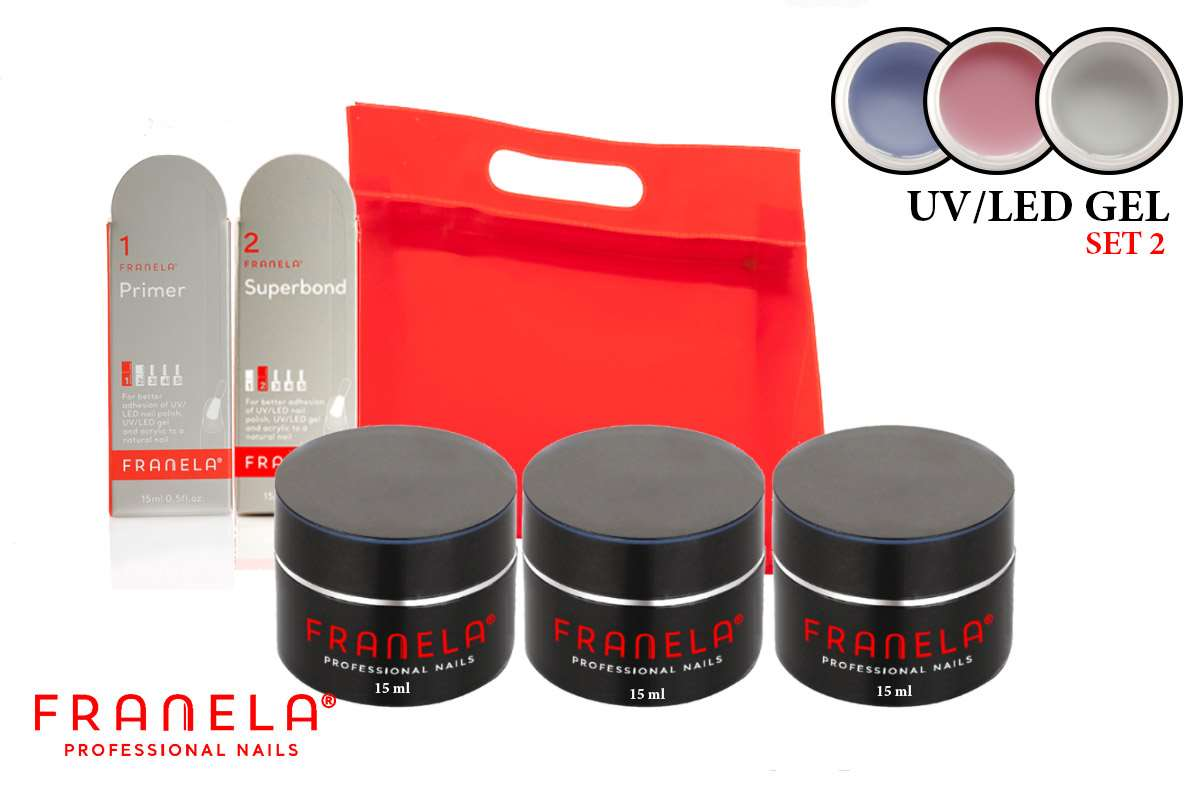 UV/LED gel set 15ml + GRATIS superbond i primer