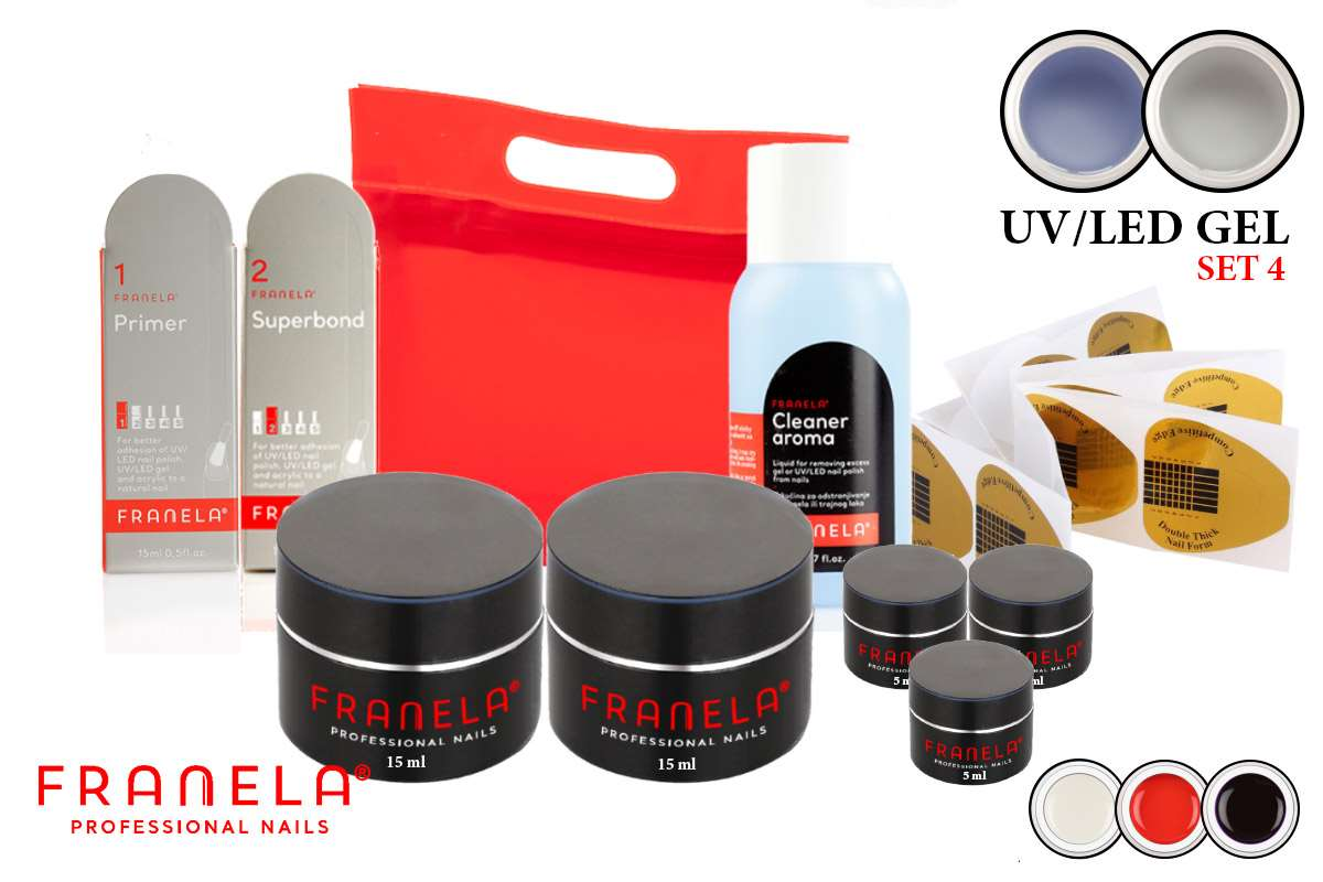 Uv/led gel set 15ml + GRATIS 3 x 5ml gel u boji