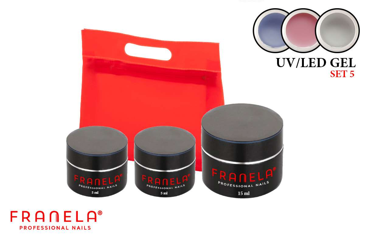 Uv/led gel set 15ml + GRATIS 5 ml uv/led gel