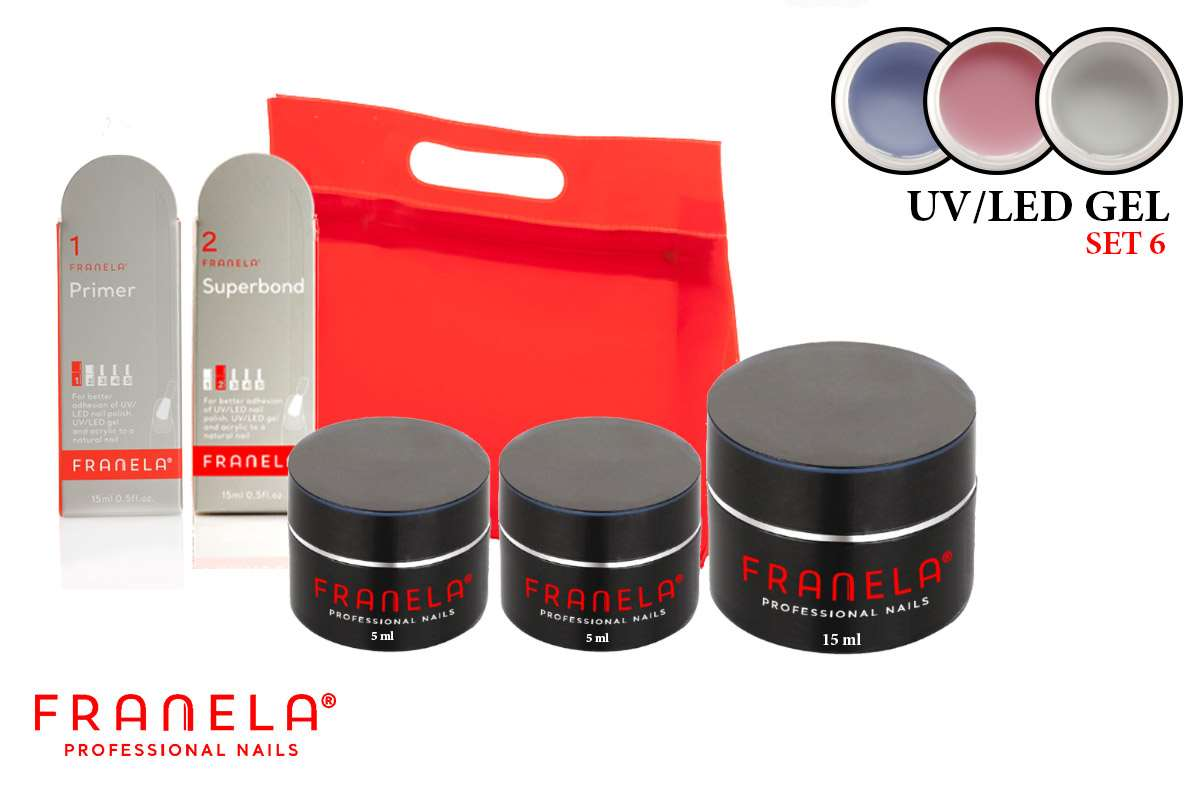 UV/LED gel set + GRATIS superbond i primer