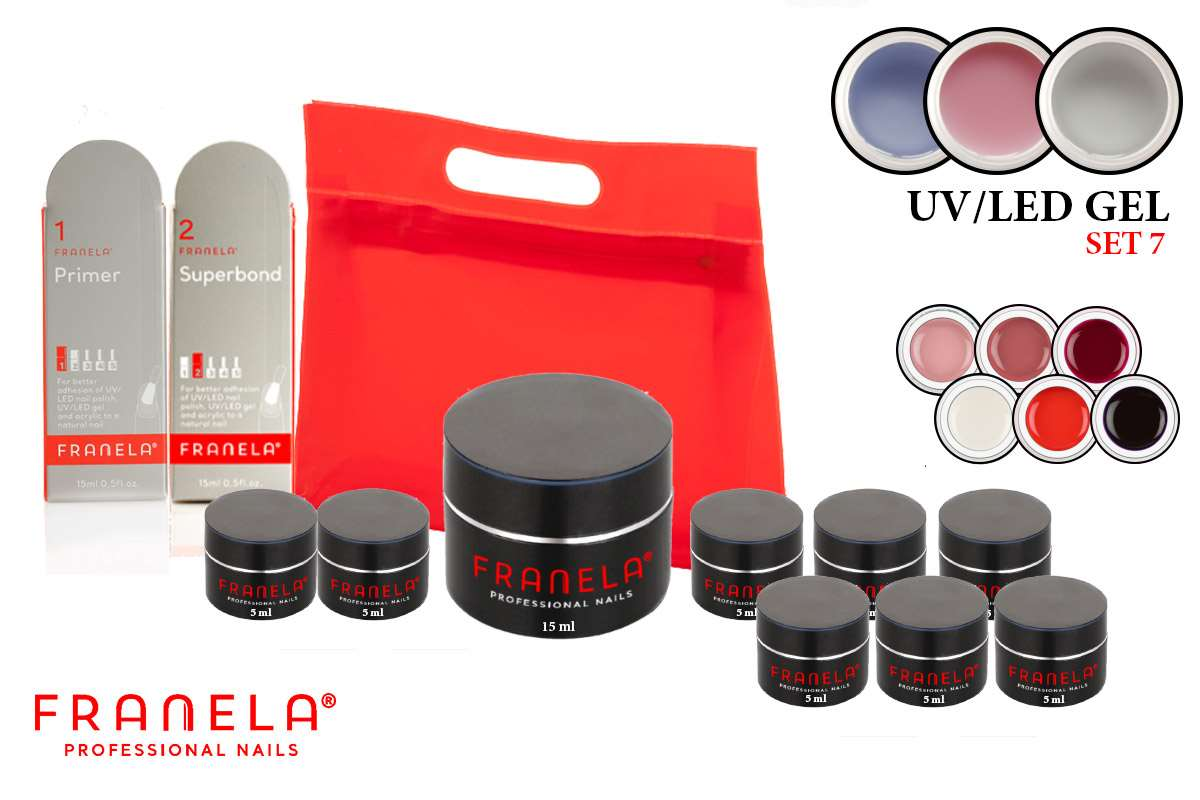 UV/LED gel set + GRATIS 6 x UV/LED gel u boji 5 ml