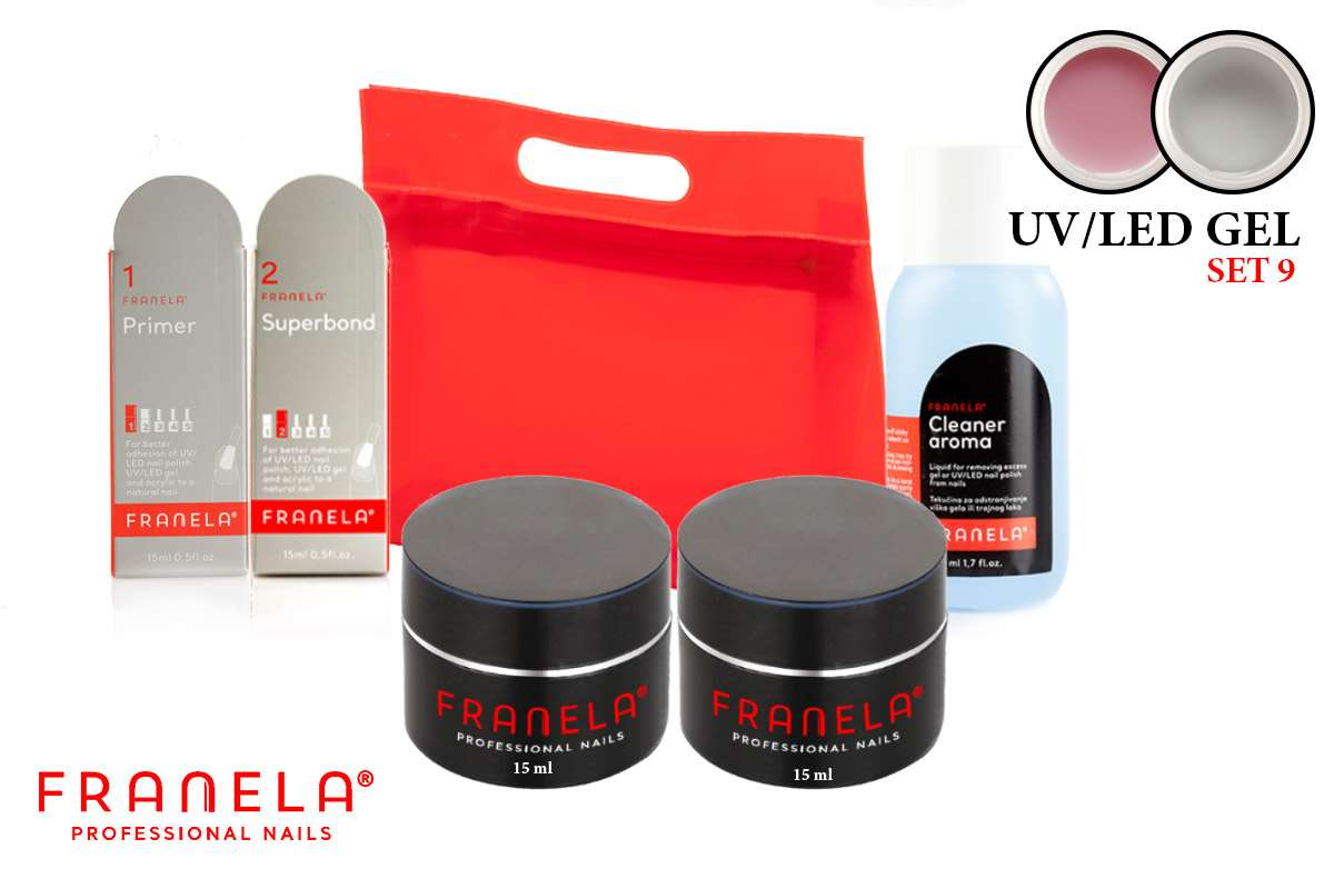 UV/LED gel set + 15 ml UV/LED gel gratis