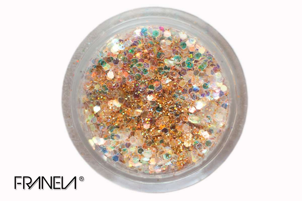 Glitter 18 - Golden mix, 0,1 + 1 mm