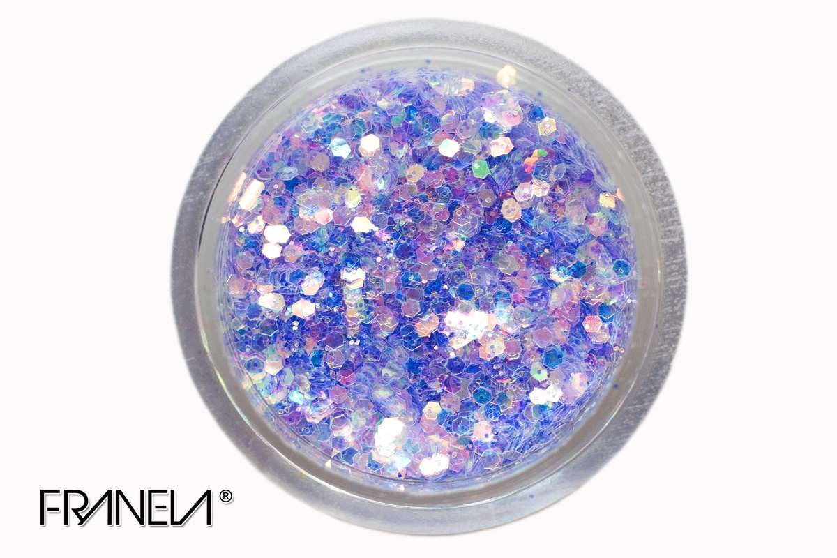 Glitter 37 - Blue mix, 0,1 + 1 mm