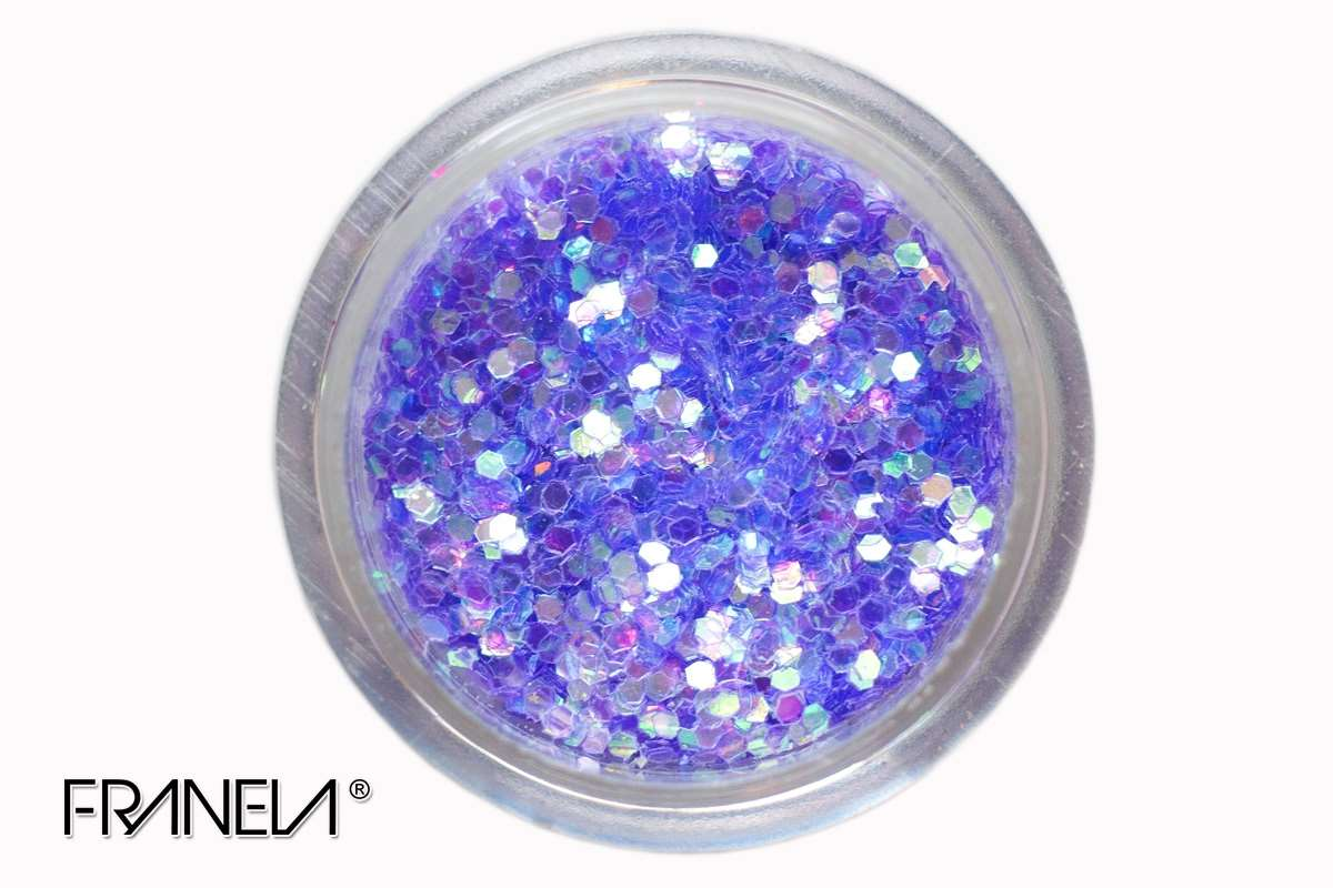 Glitter 39 - Blue hexagon, 1mm