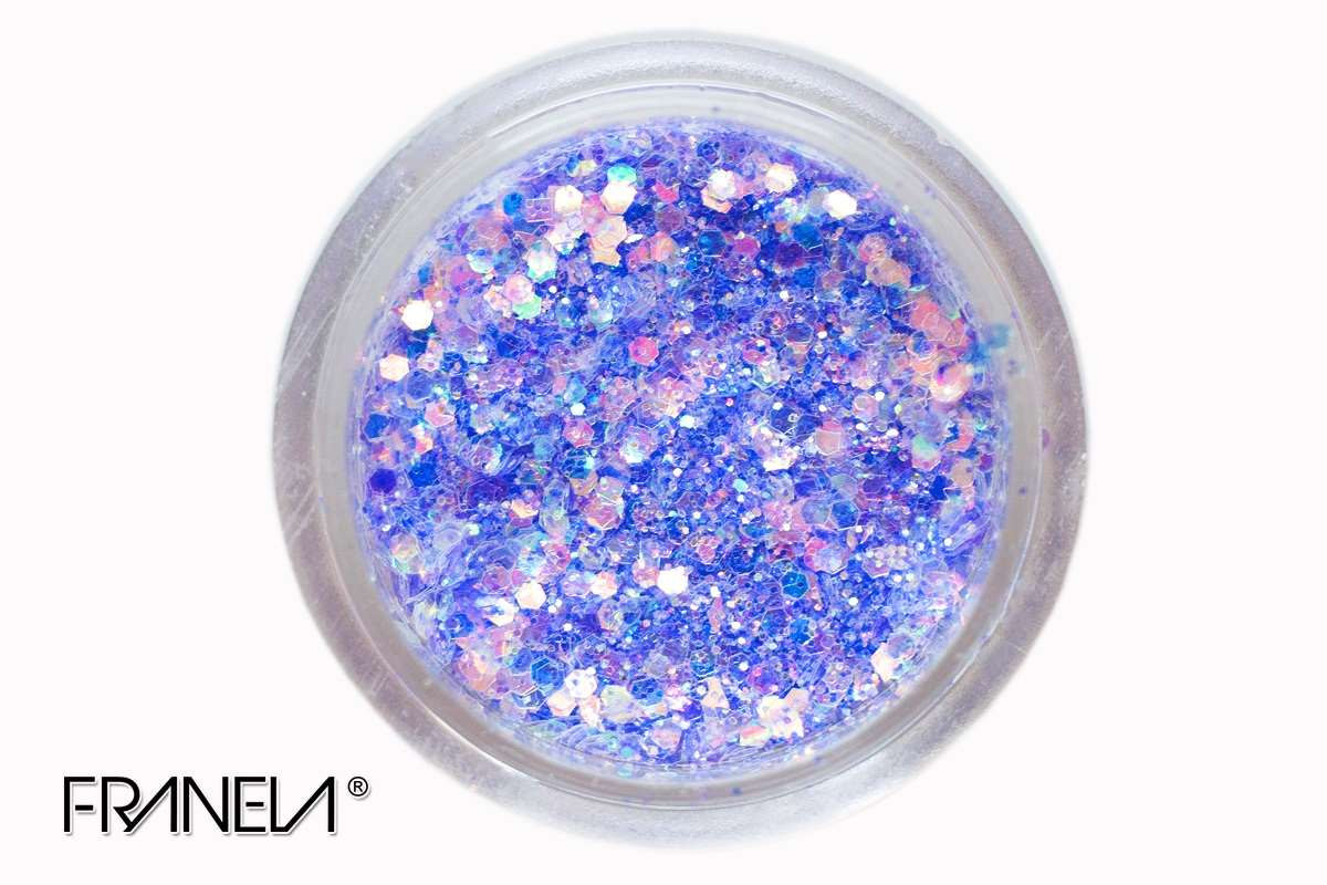 Glitter 40 - Blue mix, 0,1 + 1 mm