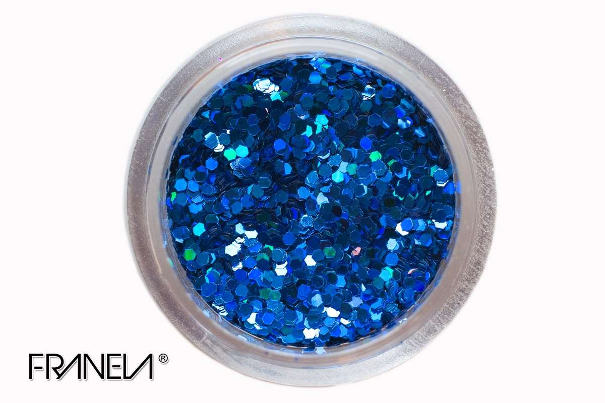 Glitter 47 - Dark blue hexagon, 1mm