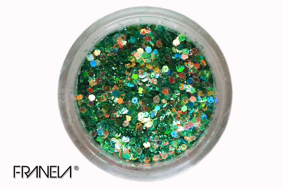 Glitter 50 - Tirquise blue mix, 0,1 + 1 mm
