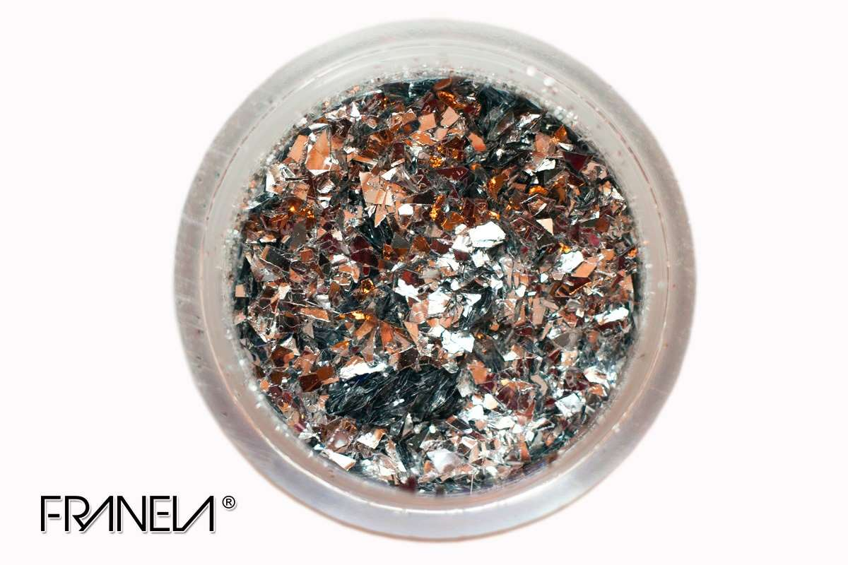 Glitter 07 - Silver flakes, 0,2 mm
