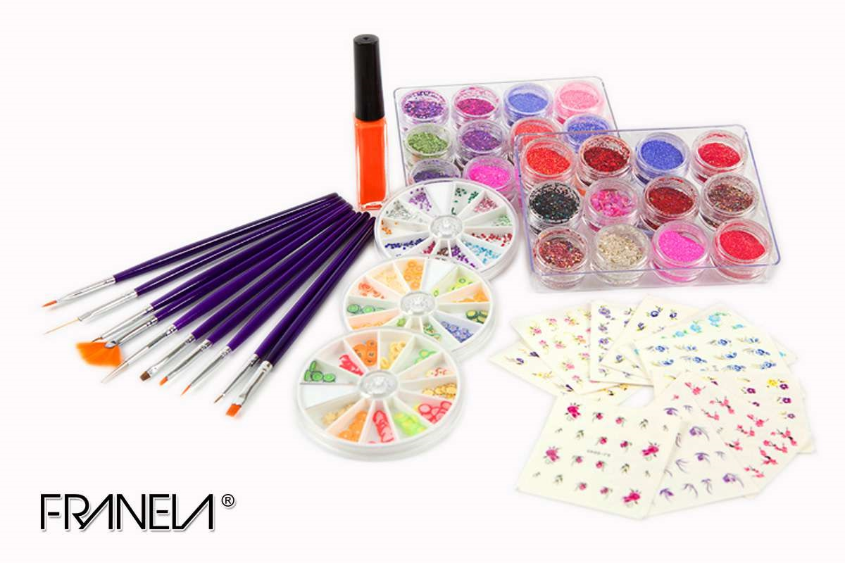 Nail art set Franela 6