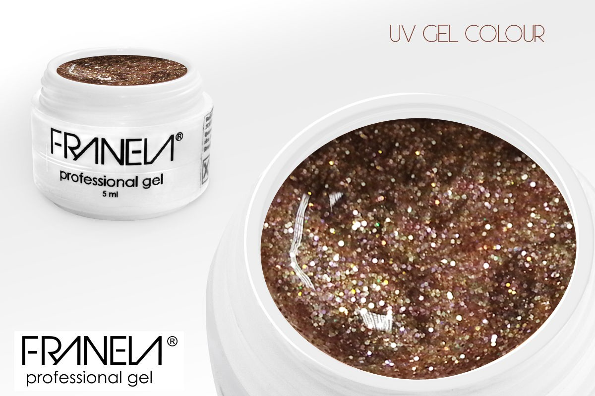 5110 UV glitter gel - shampagne tiny glitter, 5ml
