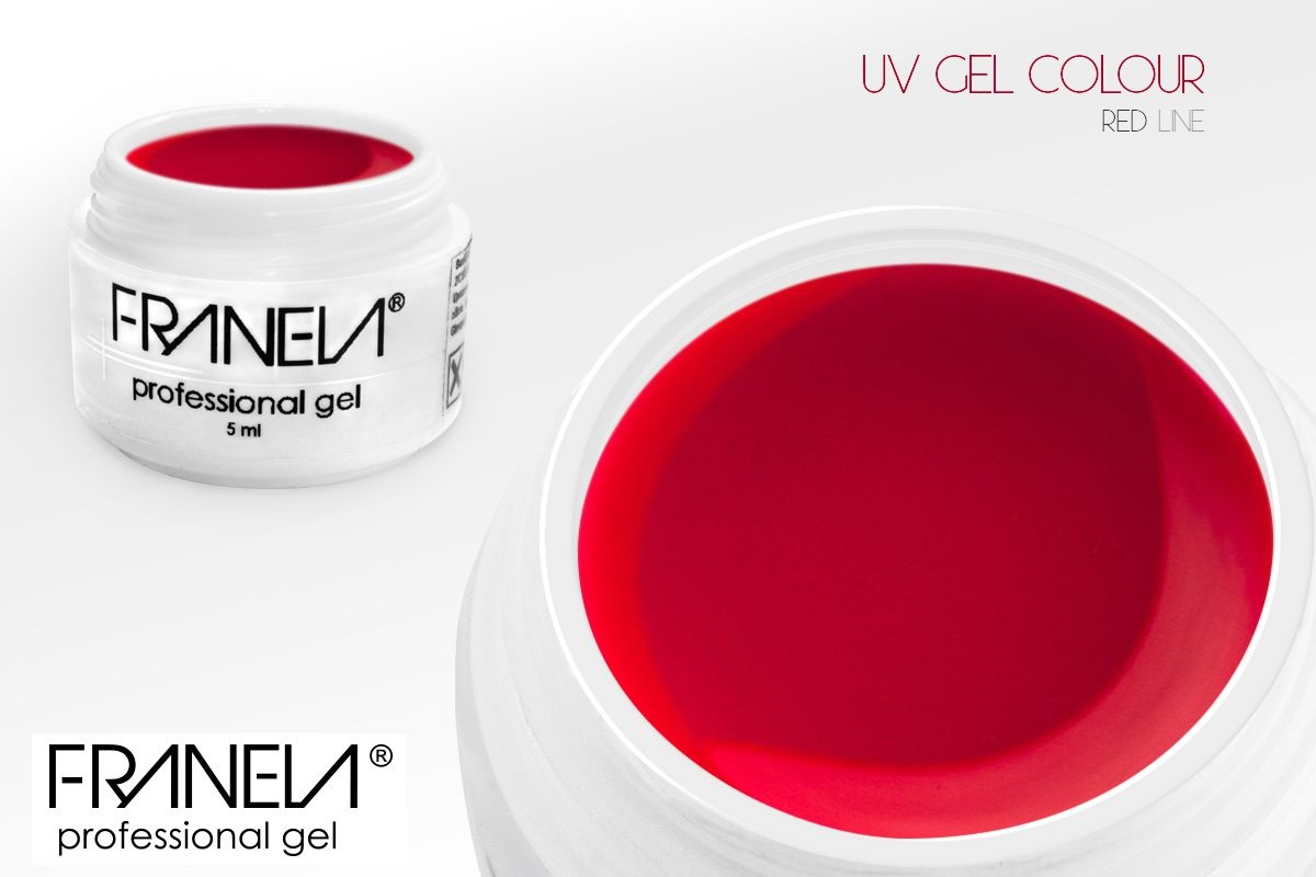 55-13 Colored UV gel - Dark coral red, 5ml