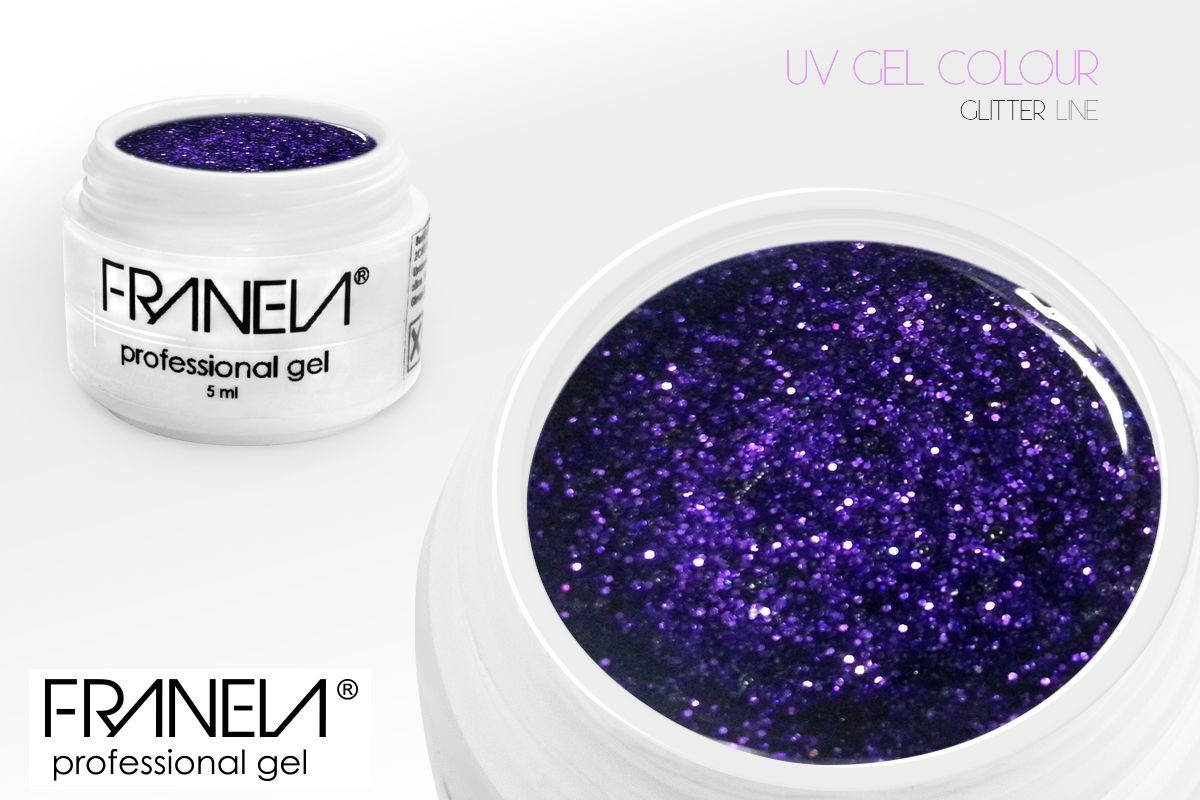 55GL11 UV glitter gel Franela, 5ml