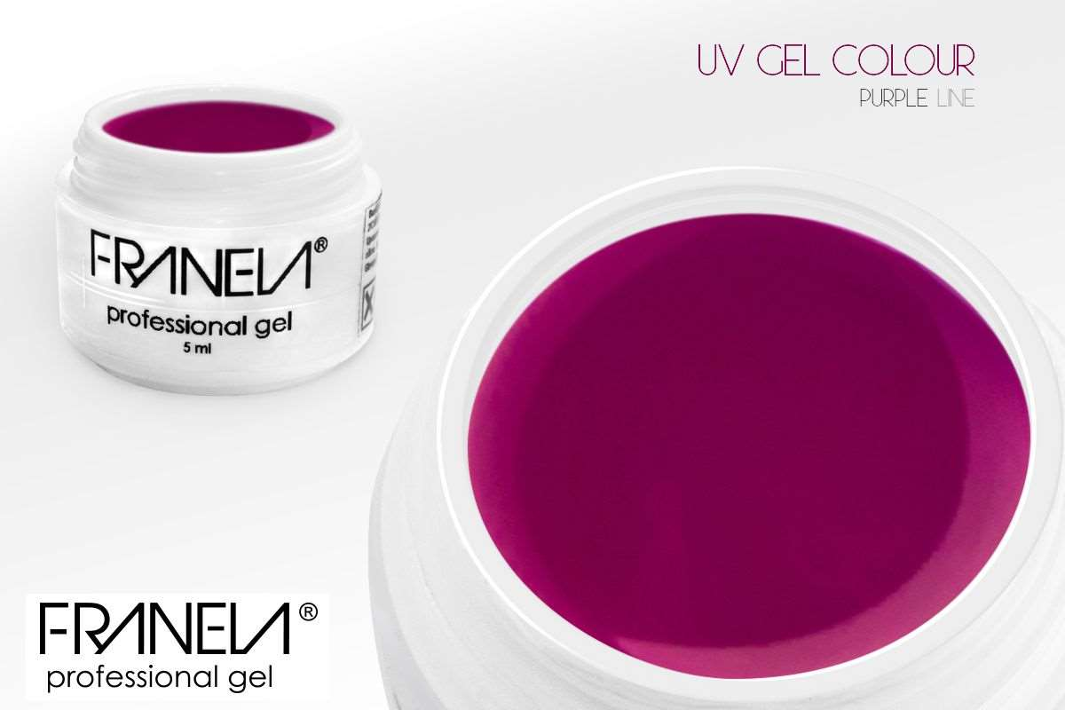 55-85 Colored UV gel  - Purple, 5ml