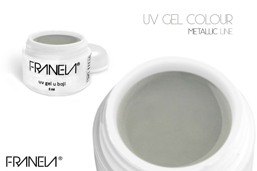 55L10 UV metallic gel Franela - lilac red, 5ml