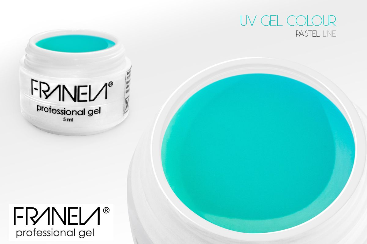 55P05 Colored UV gel  - pastel dark mint, 5ml