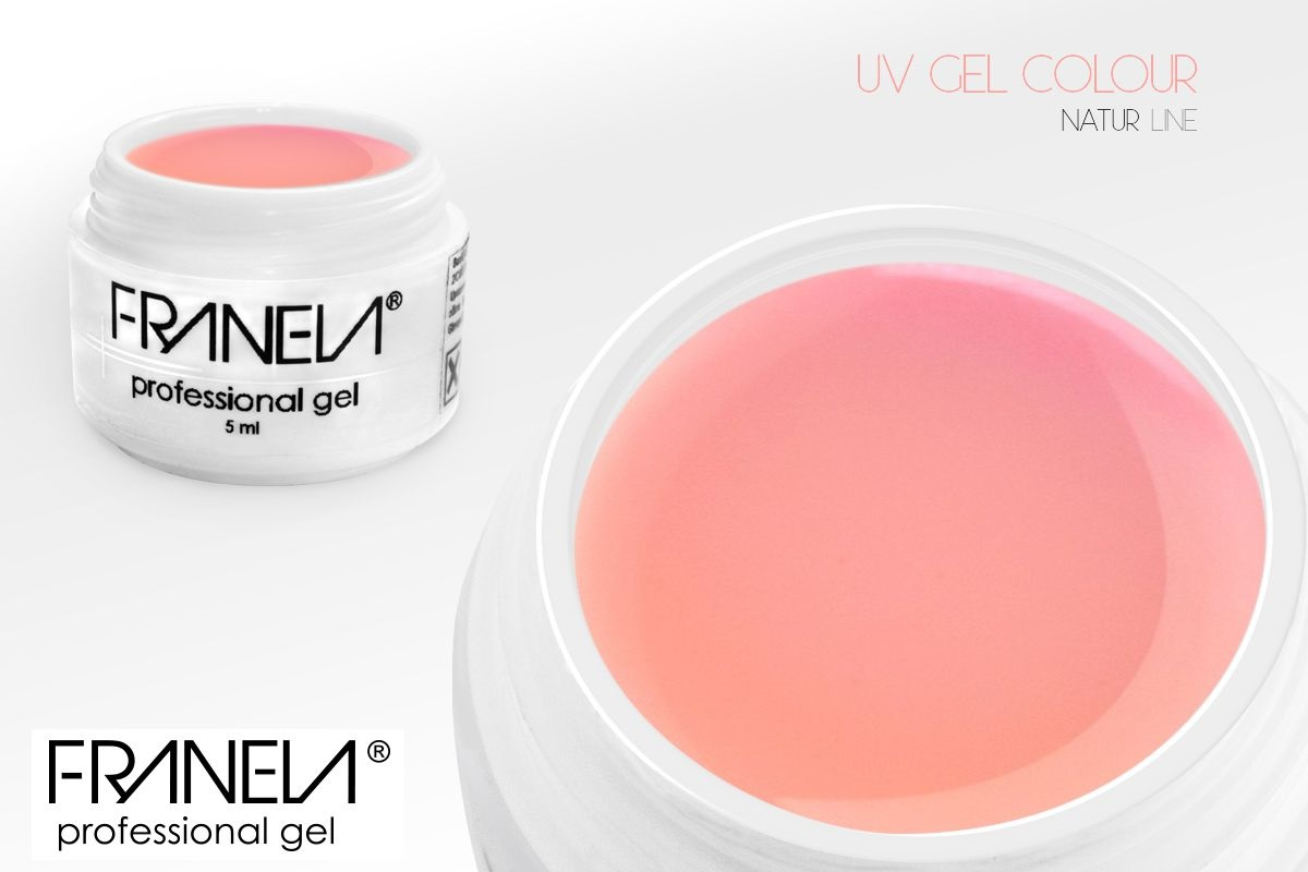 55P08 Colored UV gel  - pastel soft pink, 5ml